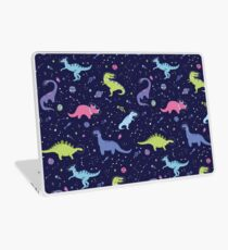 Space Dinosaurs in a Purple Sky Laptop Skin