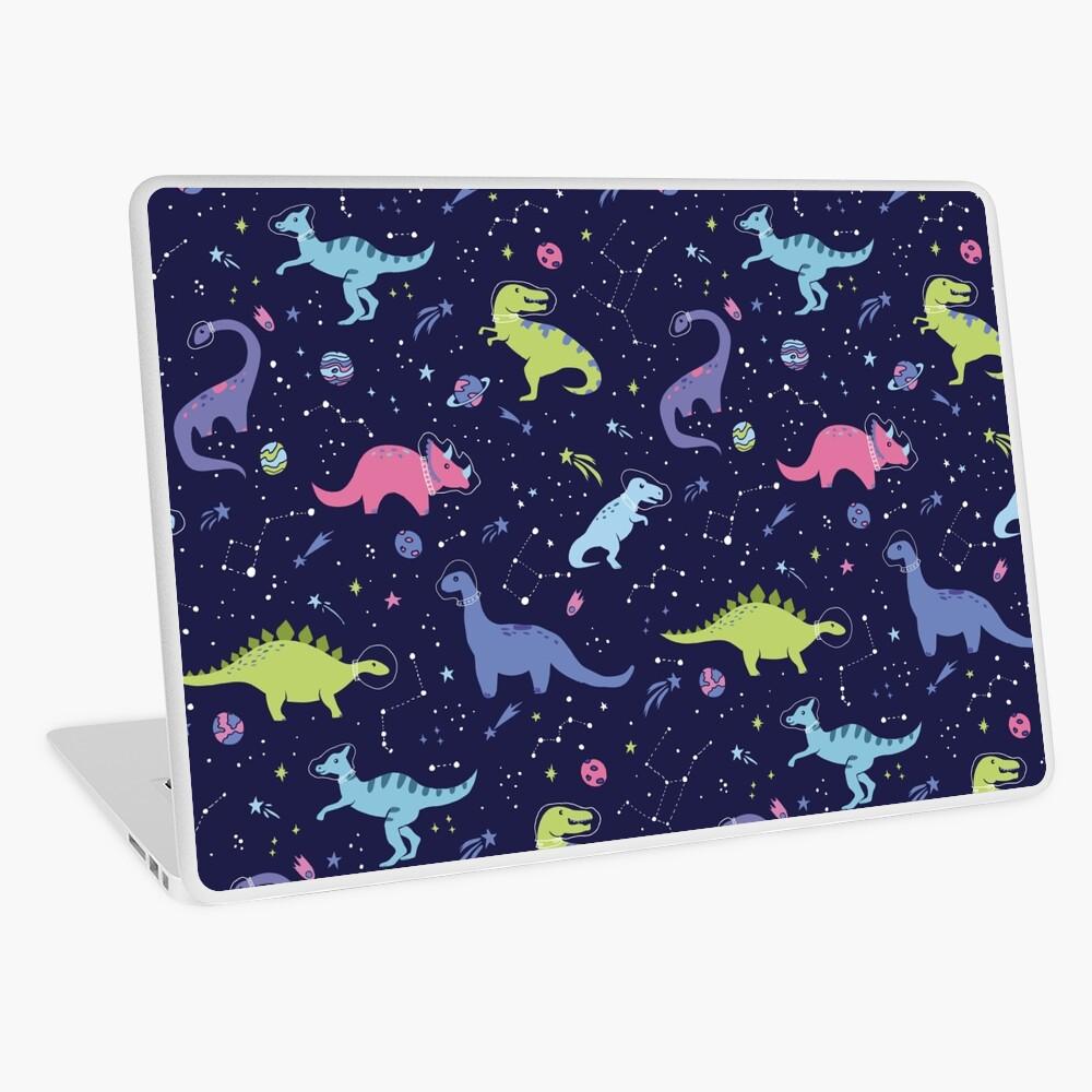 Space Dinosaurs in a Purple Sky Laptop Skin