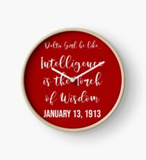 Delta Girl Be Like... January 13, 1913 [Red Edition] Clock