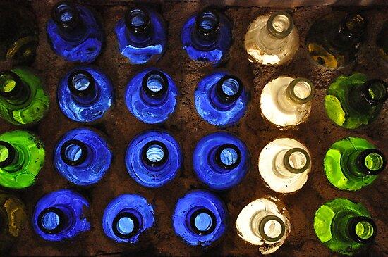 Bottle Wall  by Edge-of-dreams