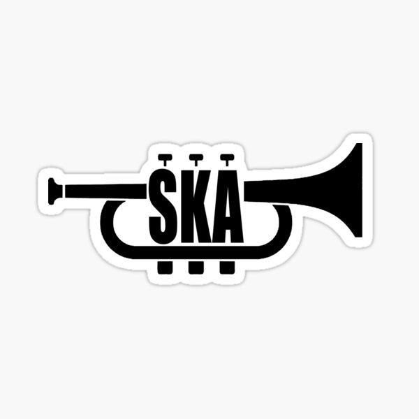 SKA unhöfliche junge Trompete Sticker