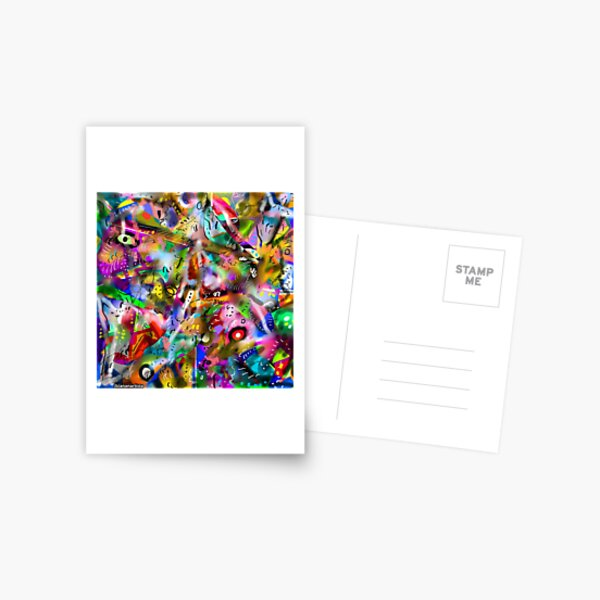 ASINTOTO (silenzio interiore) abstract expressionism Postcard