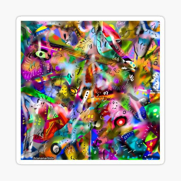 ASINTOTO (silenzio interiore) abstract expressionism Sticker