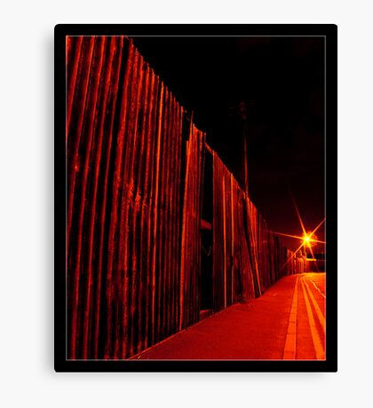 Red Corrugated Canvas Print