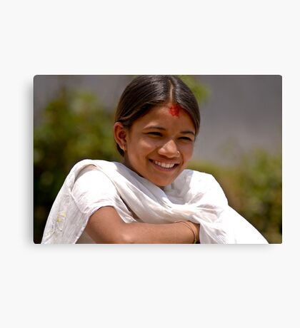 Nepali girl (IV) Canvas Print
