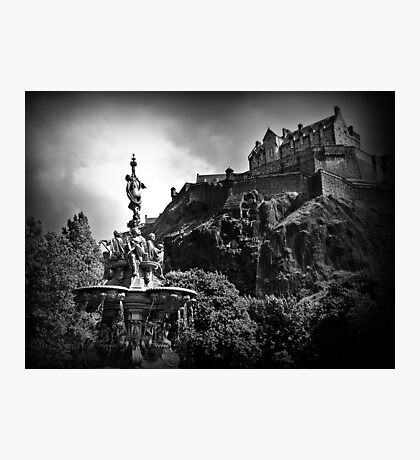 The Ross Fountain & Edinburgh Castle  Photographic Print