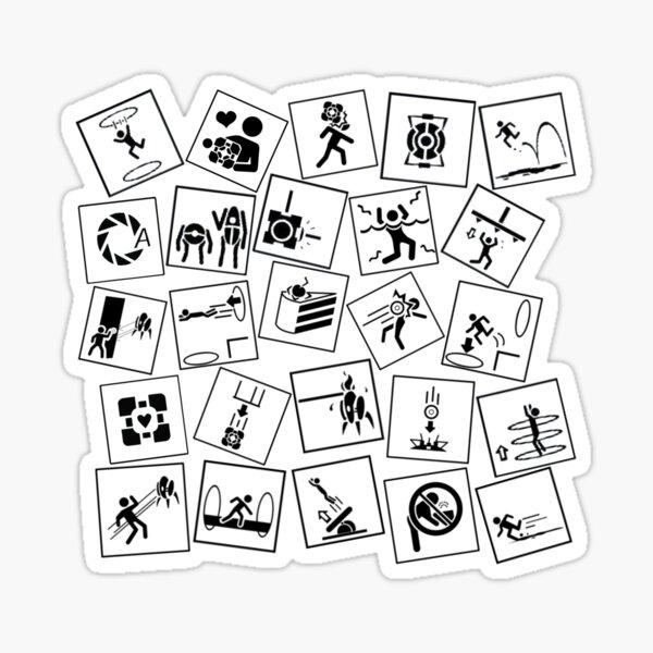 Portal 2 symbols Sticker