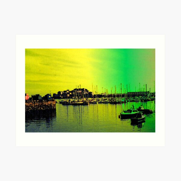 St Peter Port Harbour, Guernsey Art Print