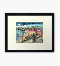 Barafundle Bay, Pembrokeshire, Wales Framed Print