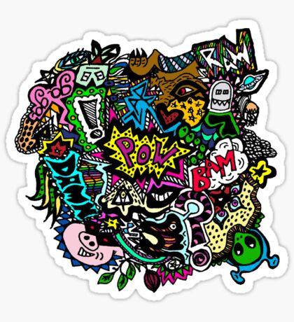Chaos in Colour Sticker