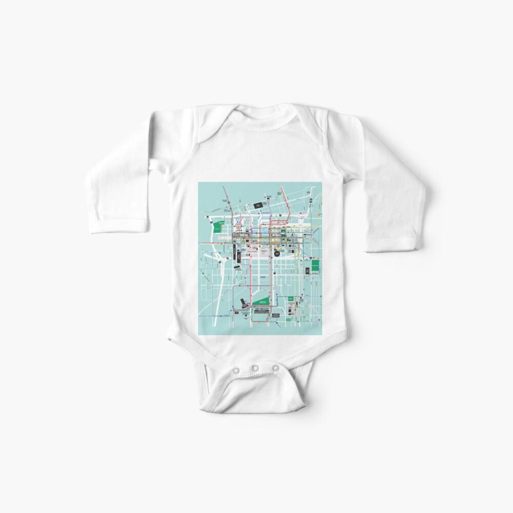 Vereinigte Staaten von Amerika - Kansas City - im Stadtzentrum gelegene Karte - HD Baby Bodys
