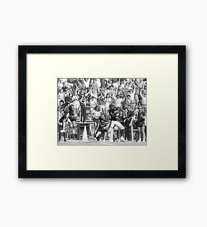 TOUCHDOWN Framed Print