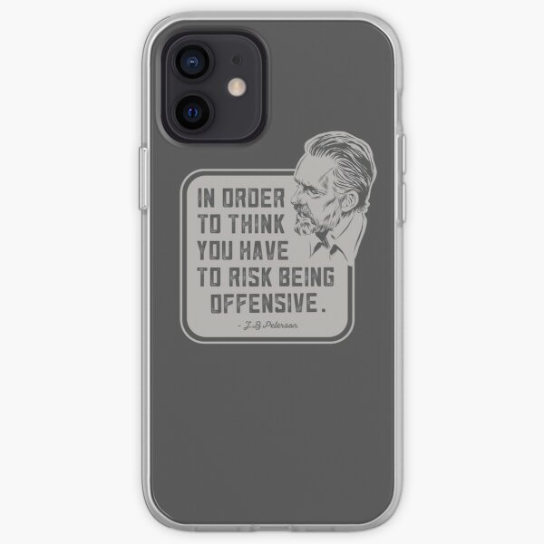Jordan Peterson - In order to think...Quote iPhone Soft Case
