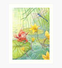 Nixie - cute water-pixie Art Print