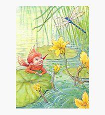 Nixie - cute water-pixie Photographic Print