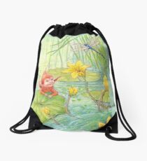 Nixie - cute water-pixie Drawstring Bag