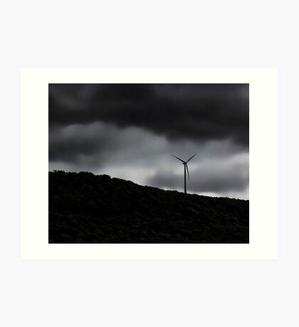 Windmill On The Hill Art Print