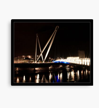 Newport City Footbridge Canvas Print