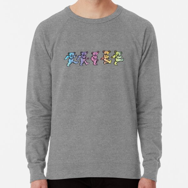 Colorful Dancing Bears Lightweight Sweatshirt