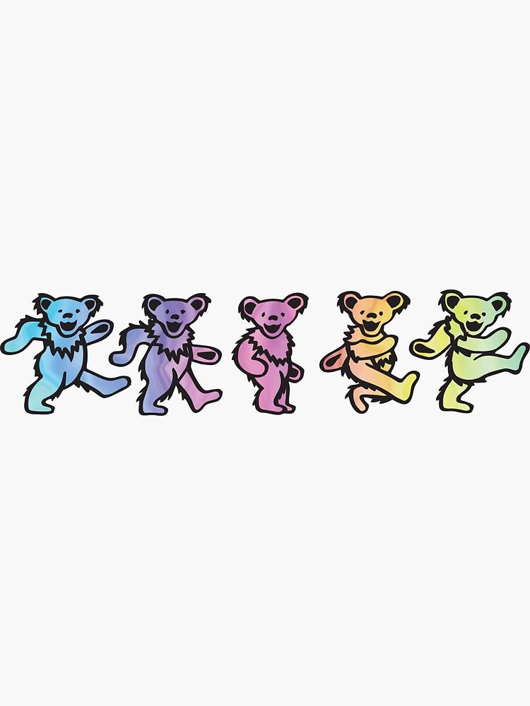 Colorful Dancing Bears by h-grob