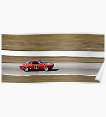 Red Alfa Romeo GTA Mosport Racing Poster