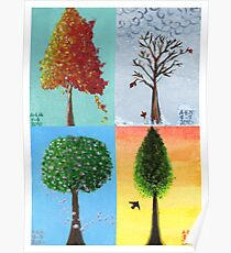 Seasonal Trees Poster