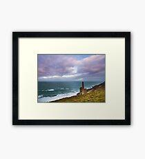 Wheal Coates tin mine Cornwall Framed Print