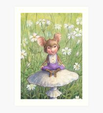 Mosely - cute little mouse-pixie Art Print