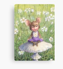 Mosely - cute little mouse-pixie Canvas Print