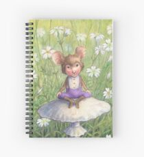Mosely - cute little mouse-pixie Spiral Notebook