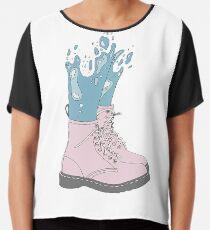 Meerjungfrau-Schuhe Chiffontop