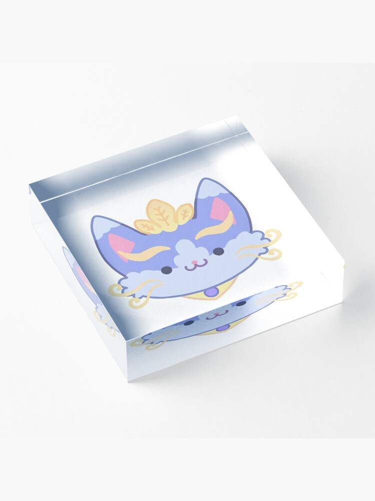 Alternate view of Yuumi - The Magical Cat Acrylic Block