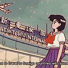 Ästhetische Sailor Mercury Quote von PeachPantone