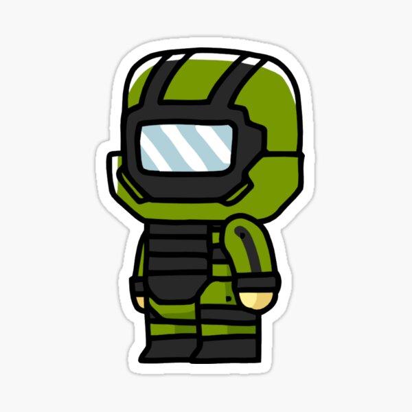 EOD Bomb Suit Cartoon Sticker