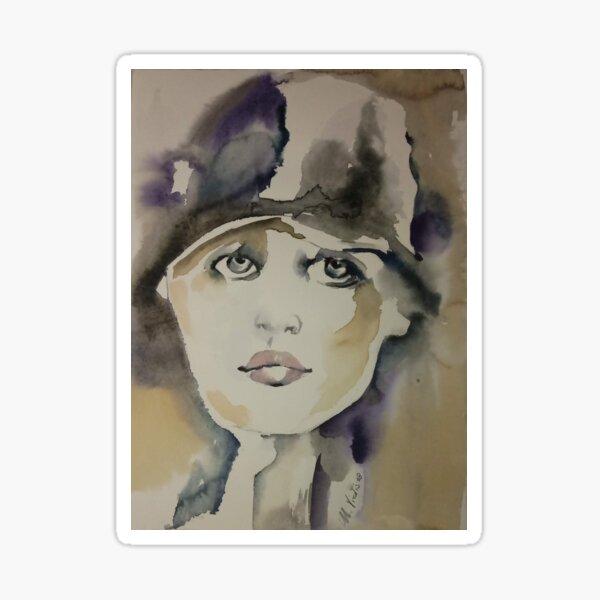 Madre con cappello - woman with hat Sticker