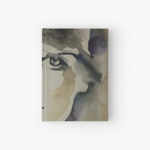 Madre con cappello - woman with hat Hardcover Journal