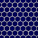 Hexagon-Wabenmuster - Marine-Palette von Cat Coquillette