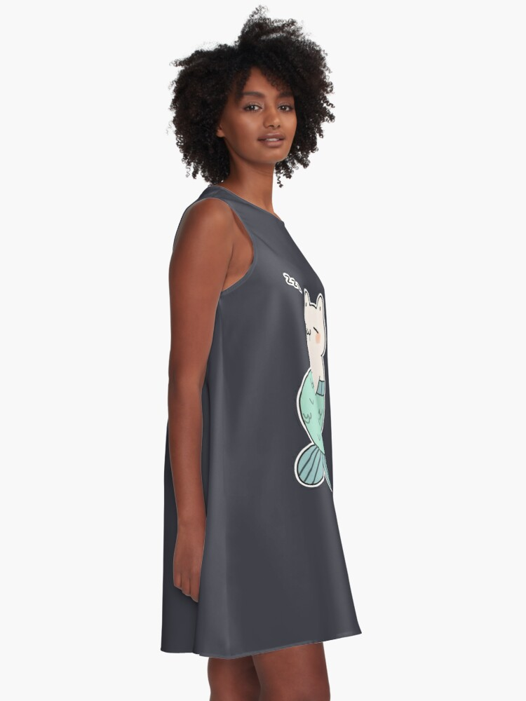 Alternate view of Sleeping Catfish A-Line Dress