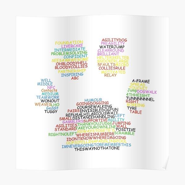 Agility Wordcloud Range Poster