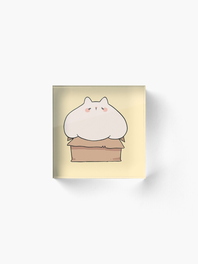 Alternate view of If I fits, I sits. Acrylic Block