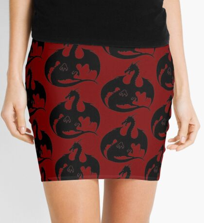 Dragon Silhouette Mini Skirt