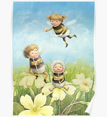 The Bimbles - Cute bee-pixie family Poster