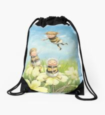 The Bimbles - Cute bee-pixie family Drawstring Bag