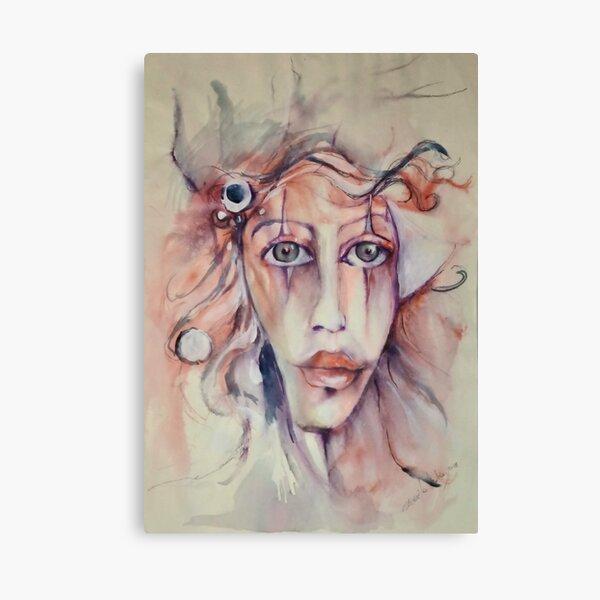 La donna pagliaccio - The clown woman Canvas Print