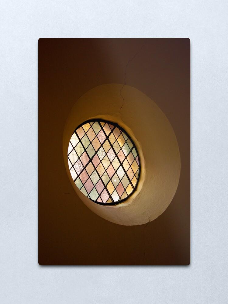 Alternate view of Round Window Metal Print