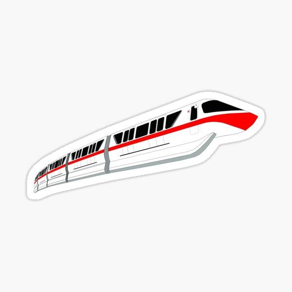 Red Monorail Sticker