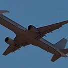 """Belly shot of the """"Catfish"""" 757-200 F-22 Testbed by Henry Plumley"""