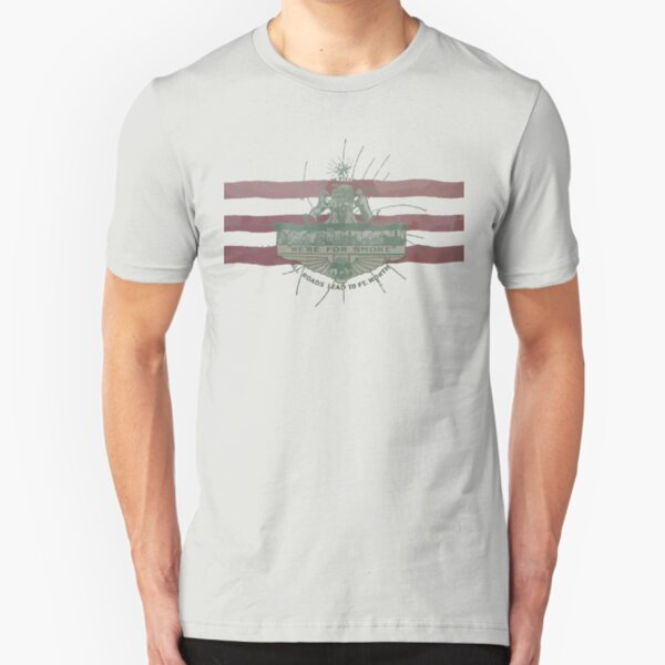 Old Fort Worth Flag - We're For Smoke - All Roads Lead to Ft. Worth Slim Fit T-Shirt