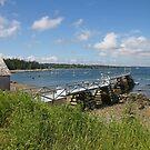 'Town Pier, Hancock, Maine' by Scott Bricker