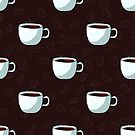 Seamless pattern of cups, hand-draw style. by miroshina